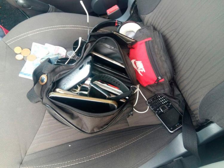 Objetos roubados foram encontrados com o grupo - Foto: Divulgação SSP