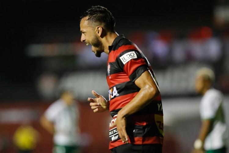 Yago viveu dia de artilheiro ao marcar dois gols num mesmo jogo pela 1ª vez - Foto: Margarida Neide   Ag. A TARDE
