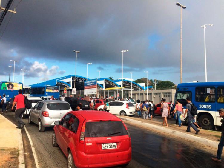 Ônibus não entram na estação Mussurunga e nos outros quatro terminais da capital - Foto: Luciano da Matta | Ag. A TARDE