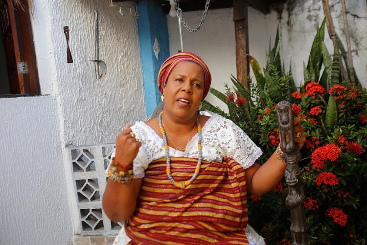 Mãe Jaciara Ribeiro é líder espiritual do Ilê Abassá de Ogum - Foto: Margarida Neide l Ag. A TARDE