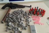 Suspeito é capturado com armas e drogas em Santo Antônio de Jesus | Foto: Divulgação | Polícia Civil