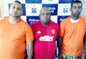 Trio é preso suspeito de envolvimento com tráfico em Itapuã | Foto: Divulgação | SSP
