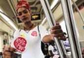 Ação conscientiza usuários do metrô para combate ao assédio | Foto: Mila Cordeiro | Ag. A TARDE