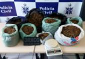 Suspeitos de tráfico fogem e deixam nove quilos de maconha na rua | Foto: Divulgação | Polícia Civil