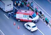 Duas pessoas ficam feridas após acidente com moto na Cia-Aeroporto | Foto: Reprodução | TV Record