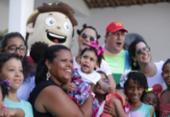 Festa diverte crianças assistidas pela ONG Abraço à Microcefalia | Foto: Raul Spinassé l Ag. A TARDE