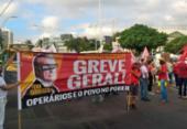 Sindicalistas fecham via em protesto contra a reforma da Previdência | Foto: Roberto Aguiar | Ag. A TARDE