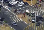 Avenida ACM é liberada após protesto contra a reforma da Previdência | Foto: Transalvador | Divulgação