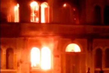 Incêndio atinge estação ferroviária de São Félix | Reprodução | Youtube