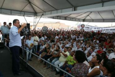 Obra garantirá água tratada a dez mil baianos do Sertão