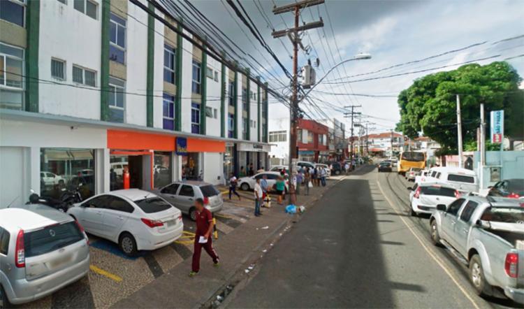 A agência alvo dos criminosos fica na rua dos Bandeirantes, no Matatu de Brotas - Foto: Reprodução | Google Maps