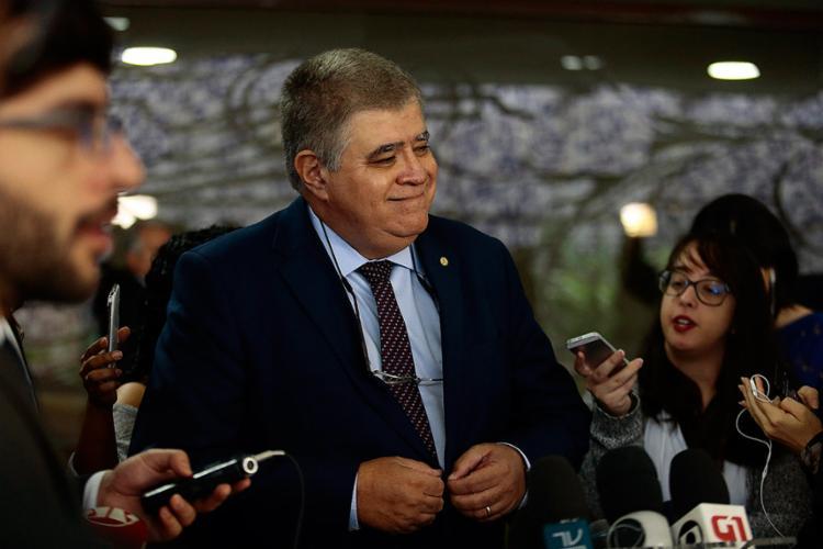 Deputado Carlos Marun, futuro ministro de Temer, diz ter confiança de que reunirá os votos necessários - Foto: Jorge William l Agência O Globo