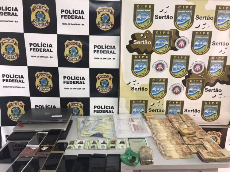 Foram apreendidos R$ 29 mil em dinheiro - Foto: Divulgação   PF