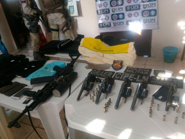 Perseguição policial durou toda a tarde e conseguiu chegar a cinco integrantes da quadrilha - Foto: Divulgação | SSP-BA