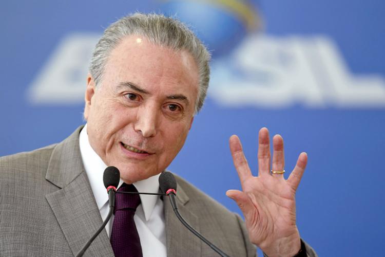 Em outubro Temer foi submetido a uma ressecção da próstata - Foto: Evaristo Sa | AFP
