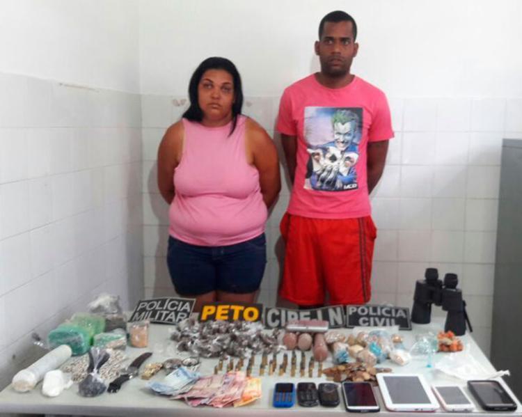 Tiago e a esposa foram detidos em flagrante - Foto: Divulgação   PC-BA