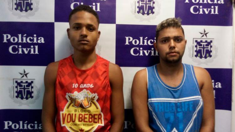 Lucas (à dir.) devia dinheiro a traficantes e fingiu o próprio sequestro - Foto: Divulgação   SSP-BA
