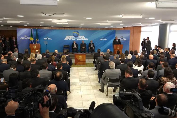 Deputado tomou posse como Ministro da Secretaria de Governo nesta sexta - Foto: Valter Campanato | Agência Brasil
