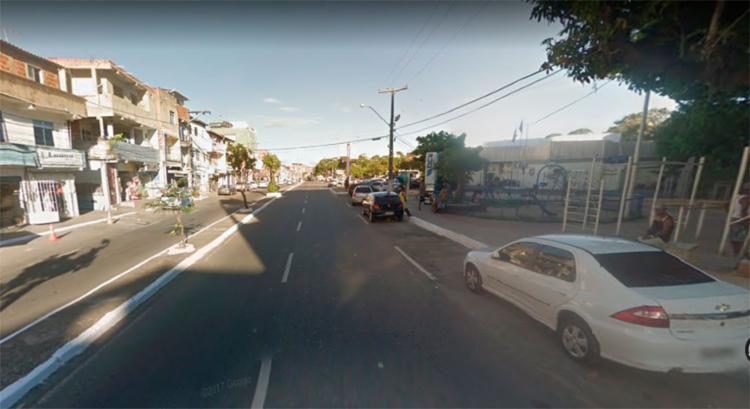 Acidente não impactou no trânsito da região - Foto: Reprodução | Google Maps