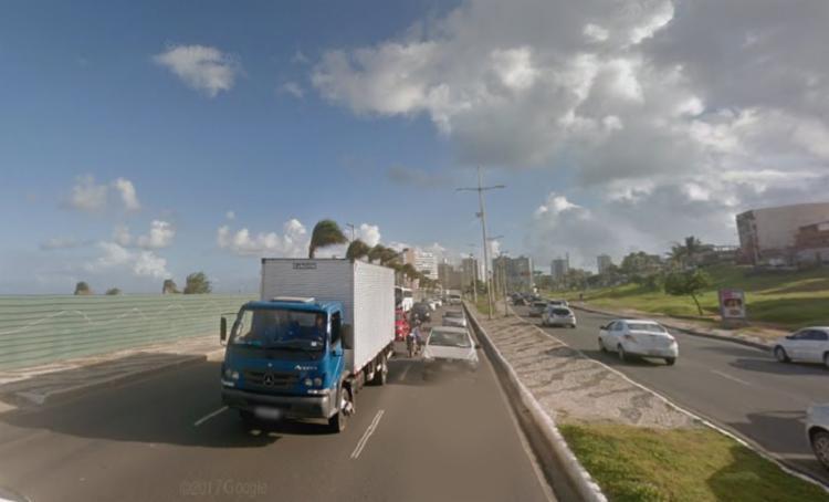 Acidente aconteceu próximo da região do antigo aeroclube - Foto: Reprodução   Google Street View