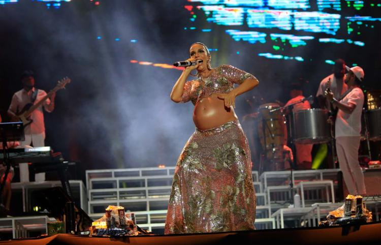 Ivete Sangalo fez o terceiro show da noite no evento que acontece na Arena Fonte Nova - Foto: Alessandra Lori | Ag. A TARDE