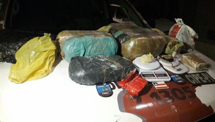 Material foi encontrado dentro da casa com os suspeitos - Foto: Divulgação   SSP