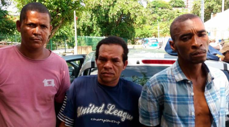 Suspeitos foram abordados na rua Conselheiro Pedro Luiz - Foto: Divulgação | SSP