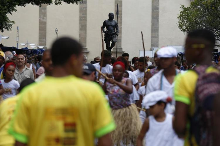Ato da União dos Negros pela Igualdade (Unegro) no Dia da Consciência Negra - Foto: Raul Spinassé / Ag. A TARDE