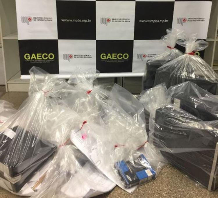 Materiais apreendidos durante as buscas - Foto: Divulgação   Ministério Público
