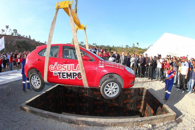 Grupo de Sérgio Habib enterrou veículo no lançamento do projeto no ano de 2012 - Foto: Manu Dias l Divulgação l 26.11.2012