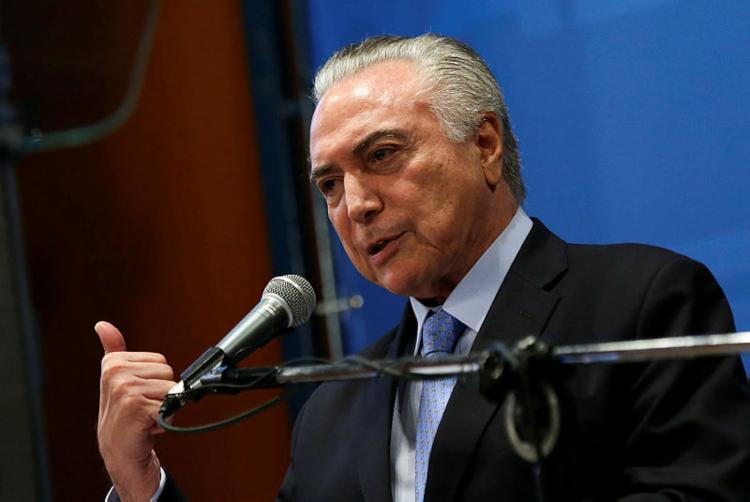 Temer diz em entrevista que o governo terá um candidato que defenda o legado de sua gestão - Foto: Marcelo Camargo/Agência Brasil
