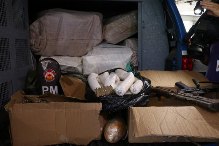 Materiais foram encaminhados para a 26ª Delegacia Territorial de Abrantes - Foto: Alberto Maraux | SSP