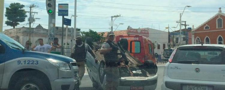 O acidente aconteceu próximo ao Largo da Mariquita, no Rio Vermelho, em Salvador - Foto: Cidadão Repórter | Via WhatsApp