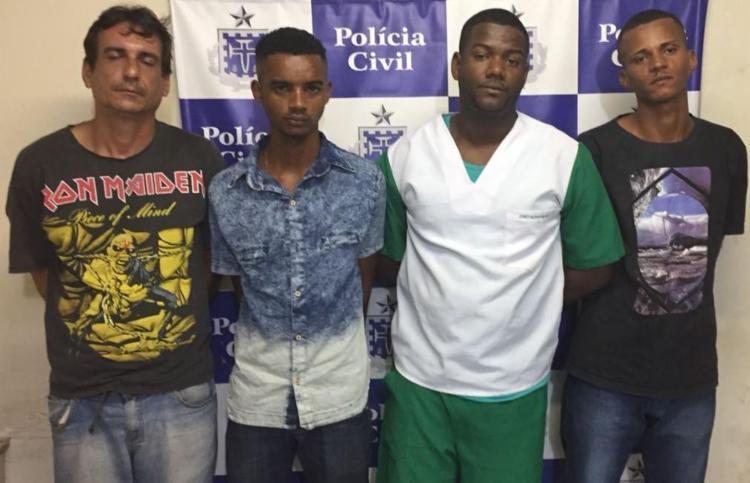 Quarteto foi preso na região dos Dois Leões após denúncia anônima - Foto: Divulgação   SSP