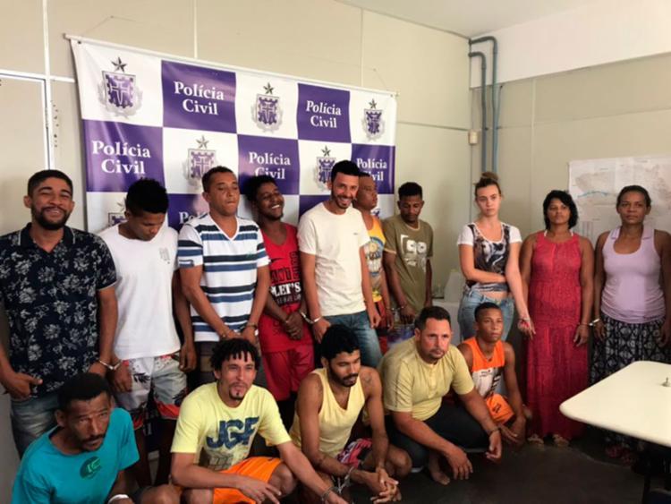 Os criminosos foram localizados e detidos em locais diferentes - Foto: Divulgação   SSP-BA