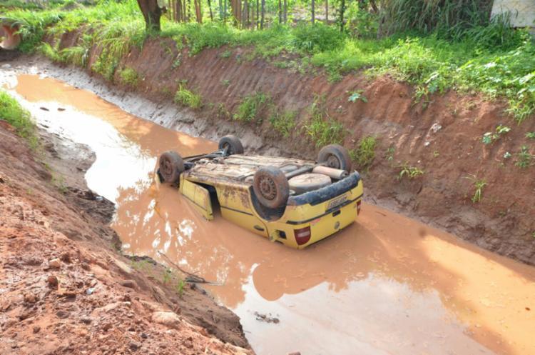 O condutor não foi localizado após o acidente - Foto: Reprodução | Bog Sigi Vilares