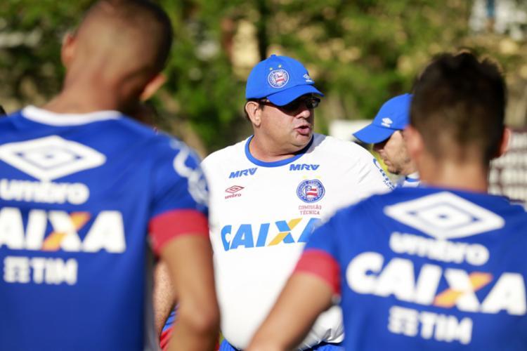 O treinador venceu a Copa do Nordeste com o Bahia em 2017 - Foto: Felipe Oliveira | EC Bahia