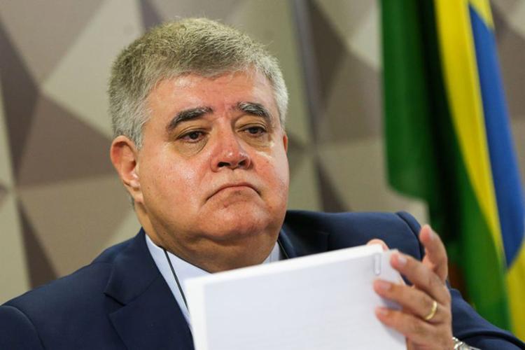 Ministro, que condicionou liberação de recursos a apoio, diz que só falará após ler carta de protesto - Foto: Marcelo Camargo l Agência Brasil