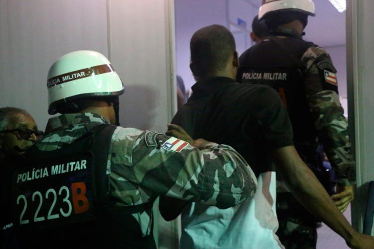 André Luís foi detido por policiais do Batalhão de Choque - Foto: Alberto Maraux | SSP