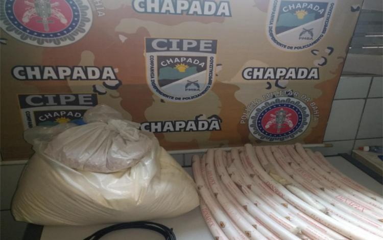 O material foi apresentado na Delegacia Territorial da cidade - Foto: Divulgação | SSP