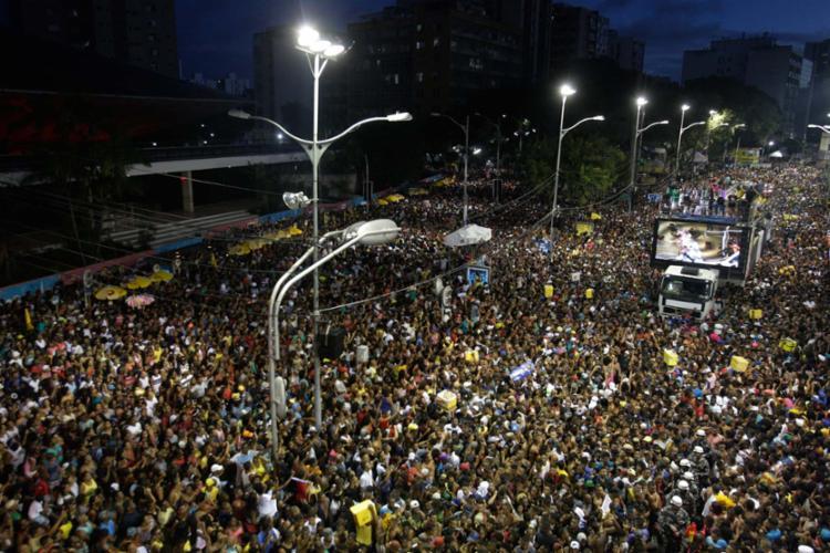 Multidão se concentrou no Campo Grande, neste ano, na apresentação de Igor Kannário - Foto: Lúcio Távora | Ag. A TARDE | 26.2.2017
