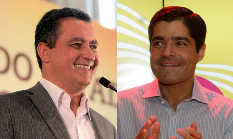 ACM Neto e Rui Costa ocupam posição diferente no espectro político - Foto: Mateus Pereira   GOVBA e Margarida Neide   Ag. A TARDE