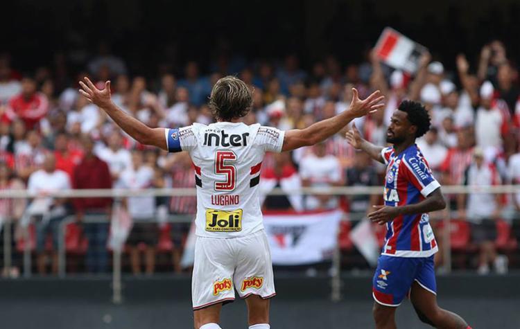 A partida, que terminou empatada por 1 a 1, marcou a despedida de Lugano do Tricolor paulista - Foto: Reprodução l Facebook l São Paulo FC