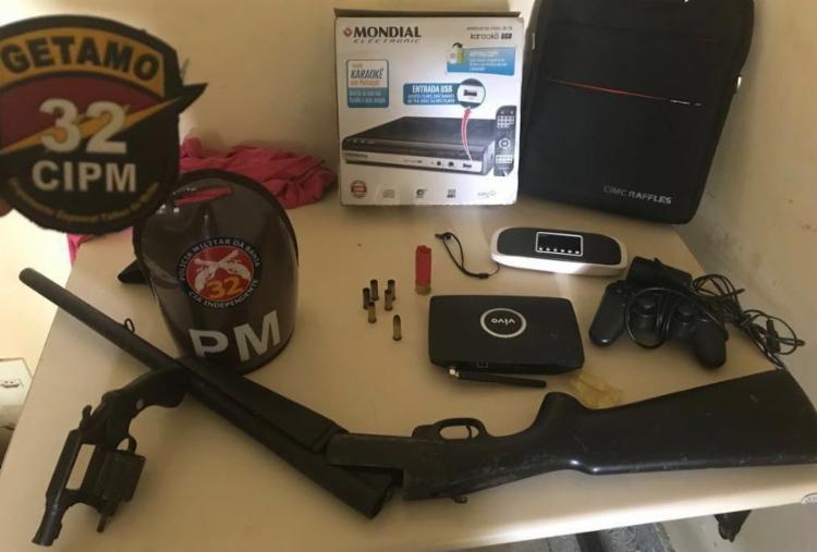 Material foi encontrado com o suspeito - Foto: Divulgação | SSP