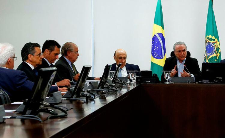 Reunião ocorreu neste domingo, 3, no Palácio do Jaburu - Foto: Marcos Corrêa   PR