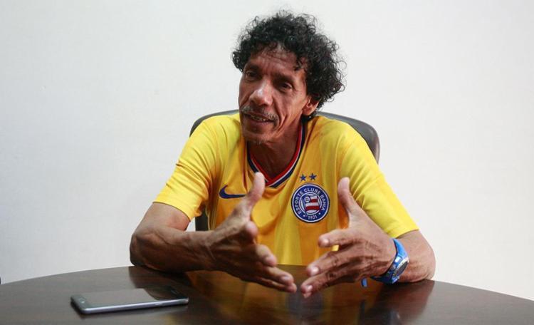 Binha, candidato a presidente pela chapa 'Bahia Campeão dos Campeões' - Foto: Luciano da Matta l Ag. A TARDE