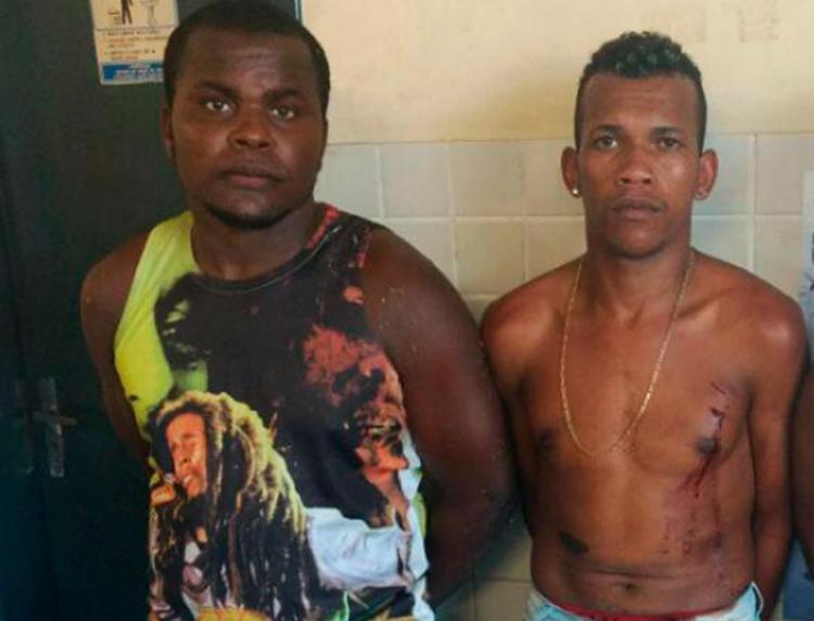 Filipe Silva Alves e Adaílton Massau dos Santos foram presos em flagrante - Foto: SSP-BA   Divulgação