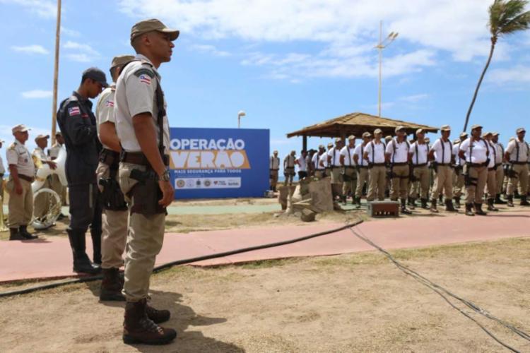 A Operação Verão foi lançada nesta quarta-feira, no bairro da Boca do Rio, em Salvador - Foto: Alberto Maraux/GOVBA