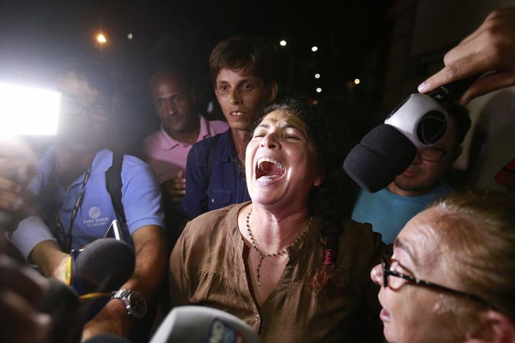 Enfermeira Marinúbia Gomes após o resultado do júri - Foto: Adilton Venegeroles l Ag. A TARDE