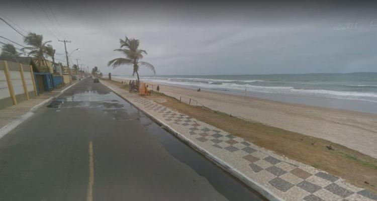 Corpo foi achado próximo a região da praia - Foto: Reprodução   Google Maps